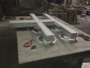 "Casting table ""OPEN TOP"" system 6 exits diametar 20"""